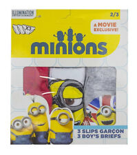 Boys Despicable Me Minions London Briefs 3 Pack Box 5-8 Years Cotton Underwear