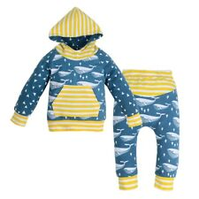 Unisex Kids Newborn Baby Girls Hoodie Outerwear Top+Pants Clothes Outfits Set