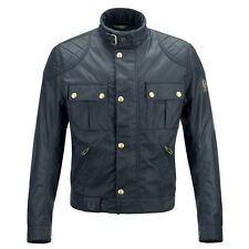 Belstaff Brooklands Mojave Wax Motorcycle Jacket - Navy - All Sizes