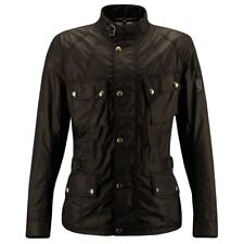 Belstaff Crosby Wax Motorcycle Jacket - Dark Brown - All Sizes