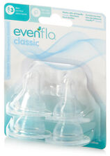 4 Pack Evenflo Classic Silicone Nipples Stage 1 2 3 Slow, Medium or Fast Flow