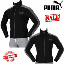PUMA Mens LS Eagle Point 2 Full Zip Track Jackets Sports Tops Black Gilet