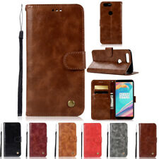 Luxury Flip Wallet Stand Card Slot PU Leather Magnetic Cover Case For OnePlus 5T