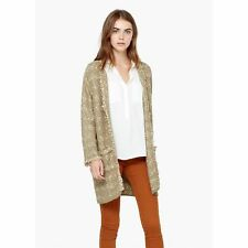 Mango - Cardigan bords effilochés - beige