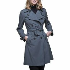 Trench and coat - IBAN - Trench en gabardine de coton - vert