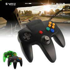Black/Green Wired Controller Joystick Game Gamepad Joypad New for Nintendo N64