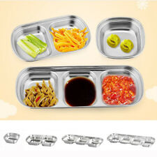 Mini Stainless Steel Sauce Bowls Dipping Ketchup Candy Nuts Snack Dish Grids