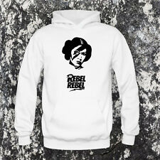 SUDADERA CON CAPUCHA PRINCESA LEIA REBEL DAVID BOWIE FAN NO DVD CD CAMISETA