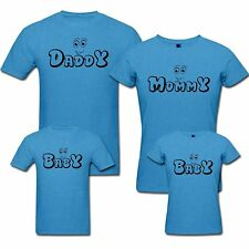Daddy Mommy and Baby - Family T-shirts - Set Of 4