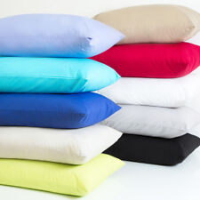 Luxury Plain Dyed Poly-Cotton Pillow Cases Pair