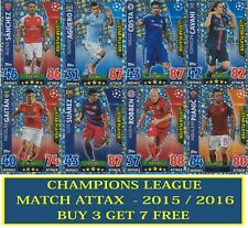TOPPS MATCH ATTAX CHAMPIONS LEAGUE 2015 2016 15 16 CARDS #237 TO #468