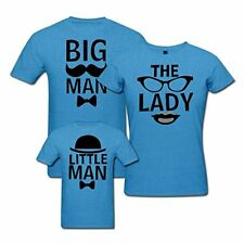 Big Man The Lady and Little Man - Matching Family T-shirt - Set of 3