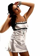 SPOSA SEXY BIANCO Chemise in raso pizzo Bust It lingerie plus taglie 16-26