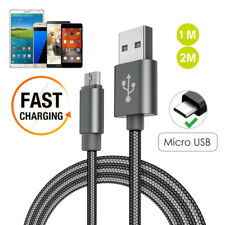 1m/2m Fast Charge Micro USB Cable Strong Braided Charger Lead for Samsung Galaxy