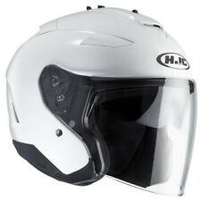 HJC casque jet moto scooter IS33 II UNI BLANC métal