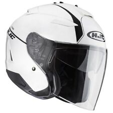 HJC casque jet moto scooter IS33 II NIRO MC10 blanc métal