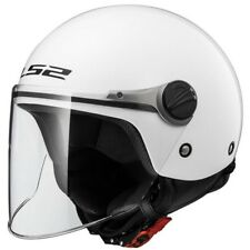 LS2 casque jet moto scooter OF575.10 WUBY JUNIOR enfant blanc brillant