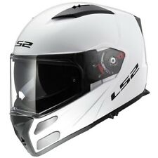 LS2 casque intégral modulable FF324.10 METRO blanc brillant moto scooter