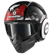 SHARK casque jet moto scooter DRAK EVOK KRA noir blanc rouge brillant