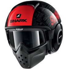 SHARK casque jet moto scooter DRAK TRIBUTE KRA noir blanc rouge brillant