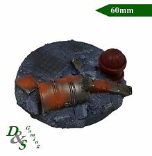 60mm Round Resin Base - Urban Heavy Weapon Team Astra Militarum Imperial Guard