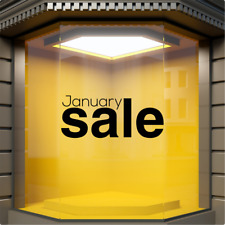JANUARY SALE Shop Window Sticker Retail Display Store Front Vinyl Decal Graphic