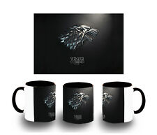 TASSE NOIR GAME OF THRONES LOGO CASA STARK MUG tazza BLACK FR