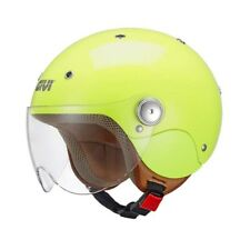 GIVI casque jet moto scooter JUNIOR 3 enfant jaune fluo brillant