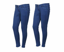 IndiWeaves Women's Low Waist Royal Blue Skinny Jeans Pack of 2 (71900-04-2-IW)