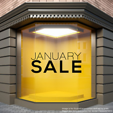 JANUARY SALE Sticker Sales Shop Window Decal Retail Display Store Front Vinyl