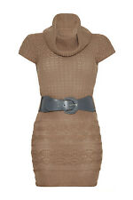 MELA Strickkleid NEU Etuikleid Business Winterkleid apart beige ML881