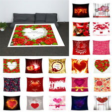Happy Valentine Flannel Blanket Sofa Throw Romantic Gift for Him Her 32x59inch