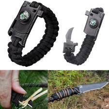 IPRee® 4 In 1 EDC Survival Bracelet Outdoor Emergency 7 Core Paracord Whistle