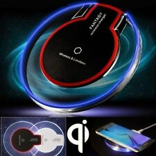 TRASPARENTE Qi WIRELESS FAST CHARGER CARICA TAMPONE PER SAMSUNG NOTE 8 IPHONE X