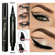 New Thin Thick Stamp Eyeliner Pen Double Head Black Stamps Kitten Eyeliner Tools