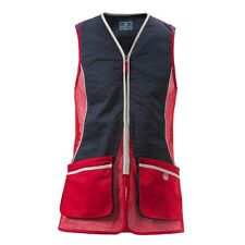 Mens Beretta Silver Pigeon Shooting Vest - Red/Navy - all sizes - new