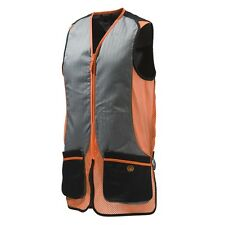 Mens Beretta Silver Pigeon Shooting Vest - Black/Orange - all sizes - new