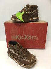 Kickers Kick Hi Infant Boys Classic Boots in Dark Brown Leather (1-14929)