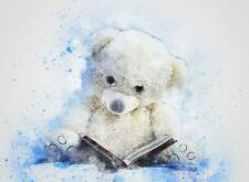 Teddy Bear Sitting Abstract Watercolour A Giant Poster - A5 A4 A3 A2 A1 A0 Sizes