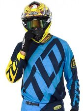 Maillot Motocross Troy Lee Designs 2017 GP Quest Bleu-Jaune