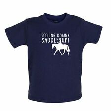 sintiéndose Down Saddle Up - Camiseta para bebé / Tee -caballo/Ecuestre/riding-