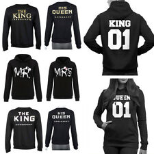 King And Queen Crown Couple Matching Hoodie MR U0026 MRS Love Valentines Day  Gift