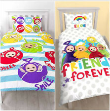 Teletubbies TV Tinky Winky Dipsy Lala Po Single Bedding Set for Kids Children