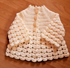 Handmade Hand Crocheted Unisex Baby 4ply Shell Matinee Coat/Jacket/Cardigan