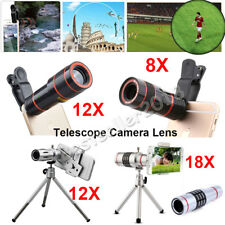 US Clip-on 12X 18X Optical Zoom HD Telescope Camera Lens For Apple iPh