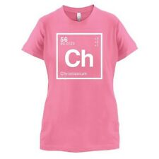 CHRISTIAN Periódico Element - Mujer / Camiseta Mujer GEEK - 14 Colores