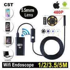 6 LED Android iPhone WIFI Endoscope Waterproof Borescope Inspection Camera