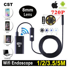 6LED Android iPhone WIFI Endoscope Waterproof Borescope Inspection Tube Camera