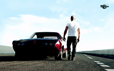 Fast and Furious Cars Vin Diesel Paul Walker Poster Wall Art Sizes A3 A4 A6-33