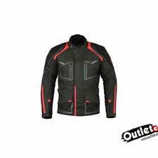 CHAQUETA MOTO 3/4 SPEED ROJA FORRO DESMONTABLE IMPERMEABLE